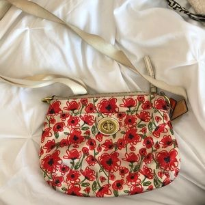 Flowered Coach Hand Bag